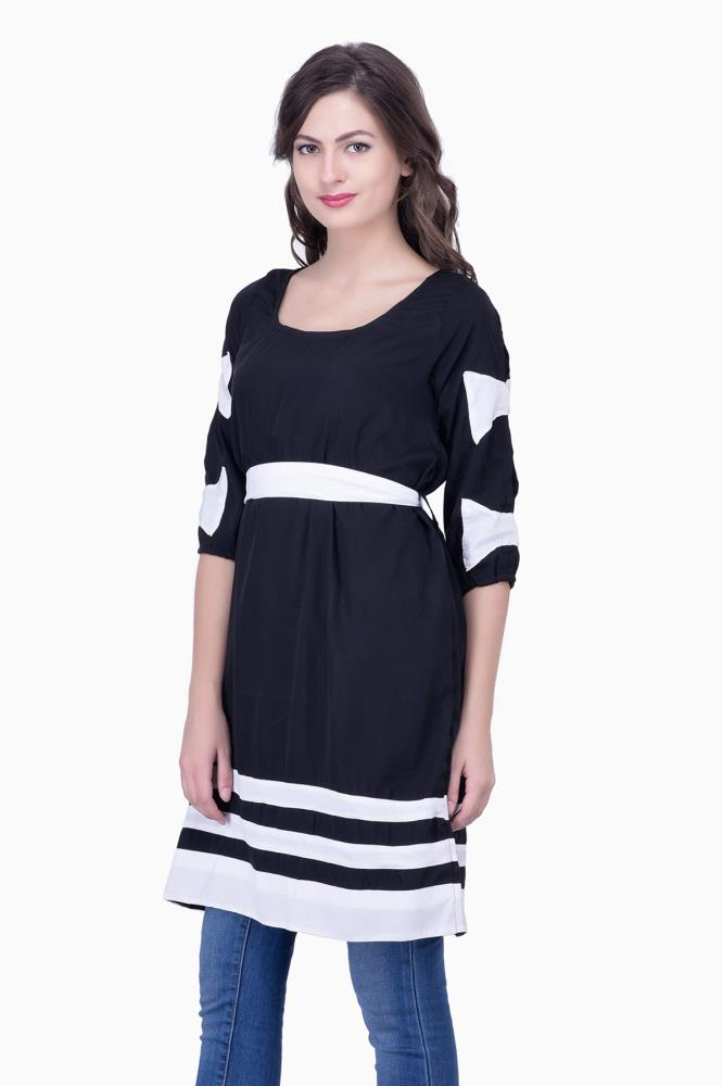 Cute Dresses With Sleeves And Bows Women Party Wear Office Casual