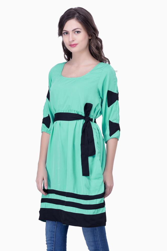 Cute Dresses With Sleeves And Bows Party Wear Office Casual