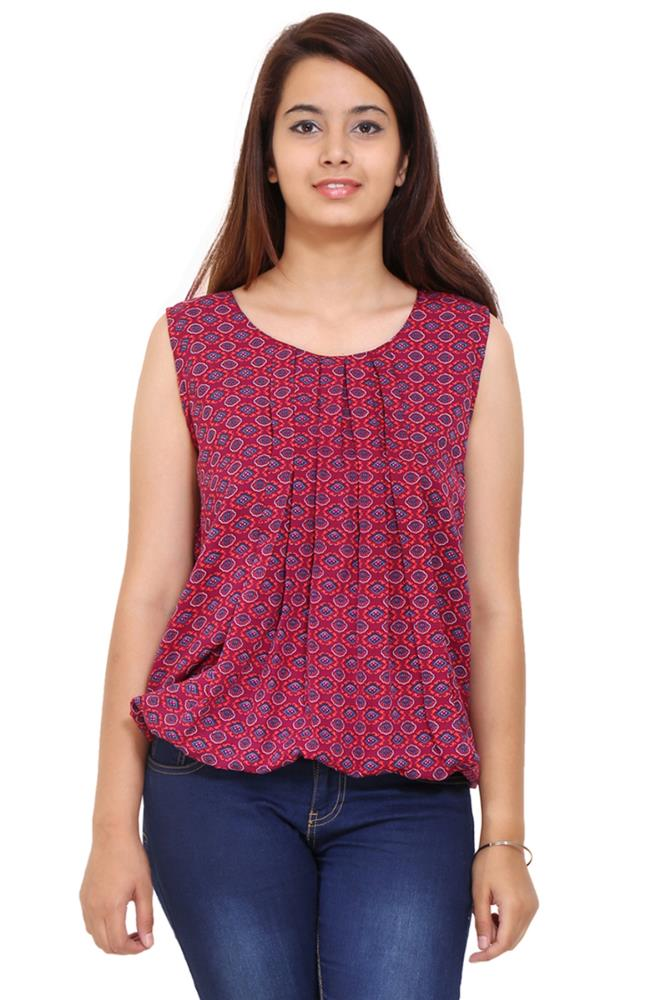 Pink Solid Women Party Wear Office Casual Tops