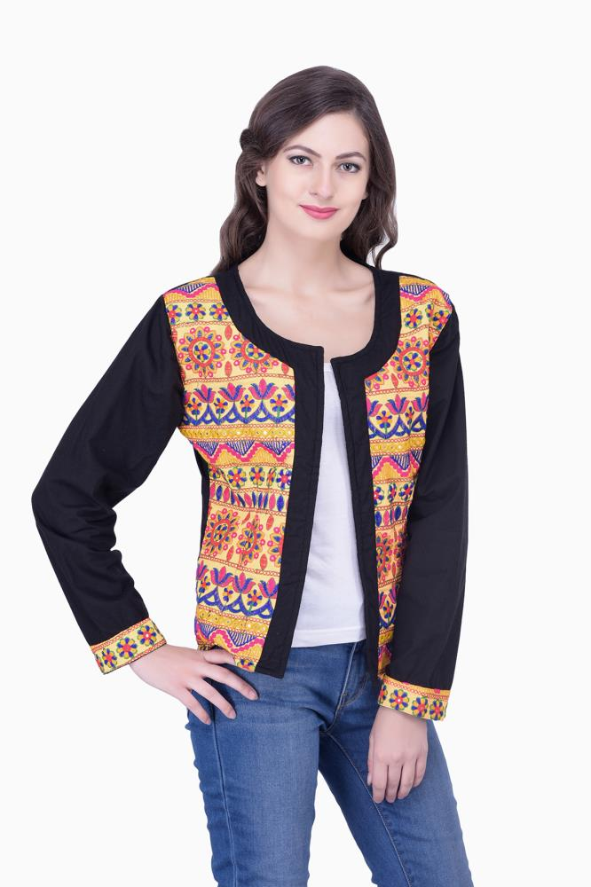 Women Ethnic Wear Jackets Casual And Formal For Spring Summer Autumn Winter Embroidery Jackets ...