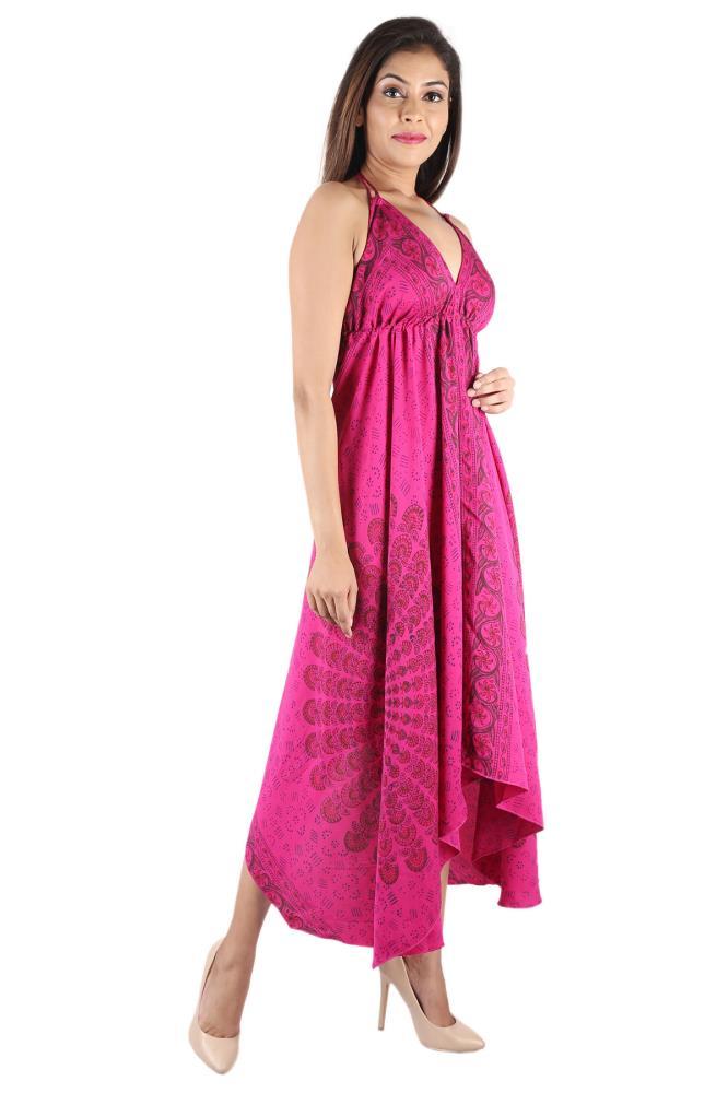 3875f206f3a Poly Crepe Mandala Long Maxi dress